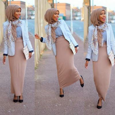 Model Rok Pensil Hijaber Terbaru untuk Kerja