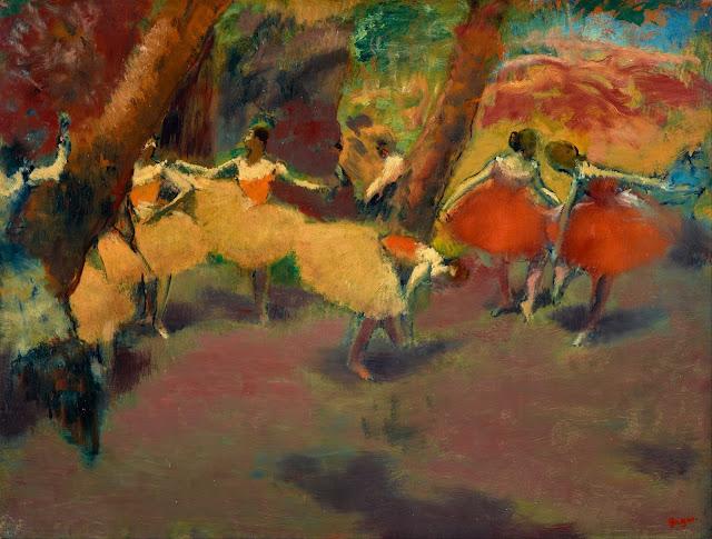 Эдгар Дега - Перед выступлением (1896)