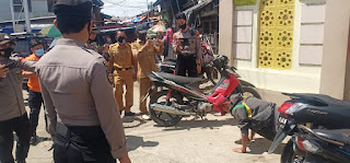Patroli Masker Sasar Pasar Sudu, Pelanggar Protokol Kesehatan Diberi Sanksi