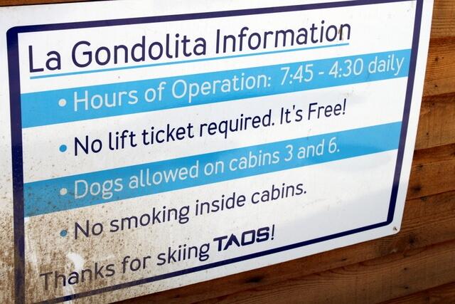 Free ski lifts! Taos Ski Valley, NM