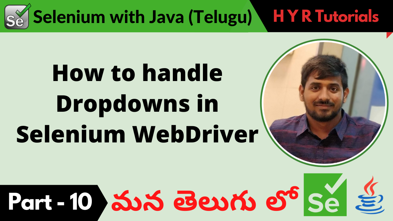 How to handle Dropdowns in Selenium WebDriver