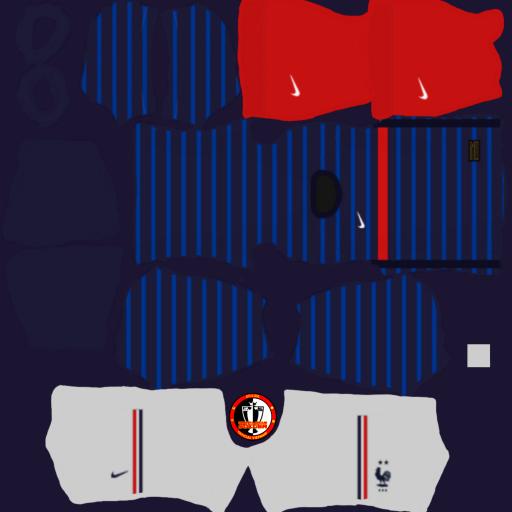 Kits đội tuyển Pháp France 2021 - Dream League Soccer 2021
