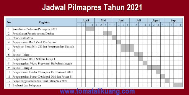 jadwal pilmapres tahun 2021 tomatalikuang.com