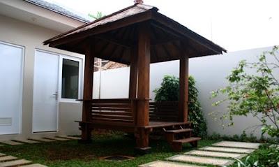 20 Model Desain Taman Belakang Rumah Dengan Gazebo