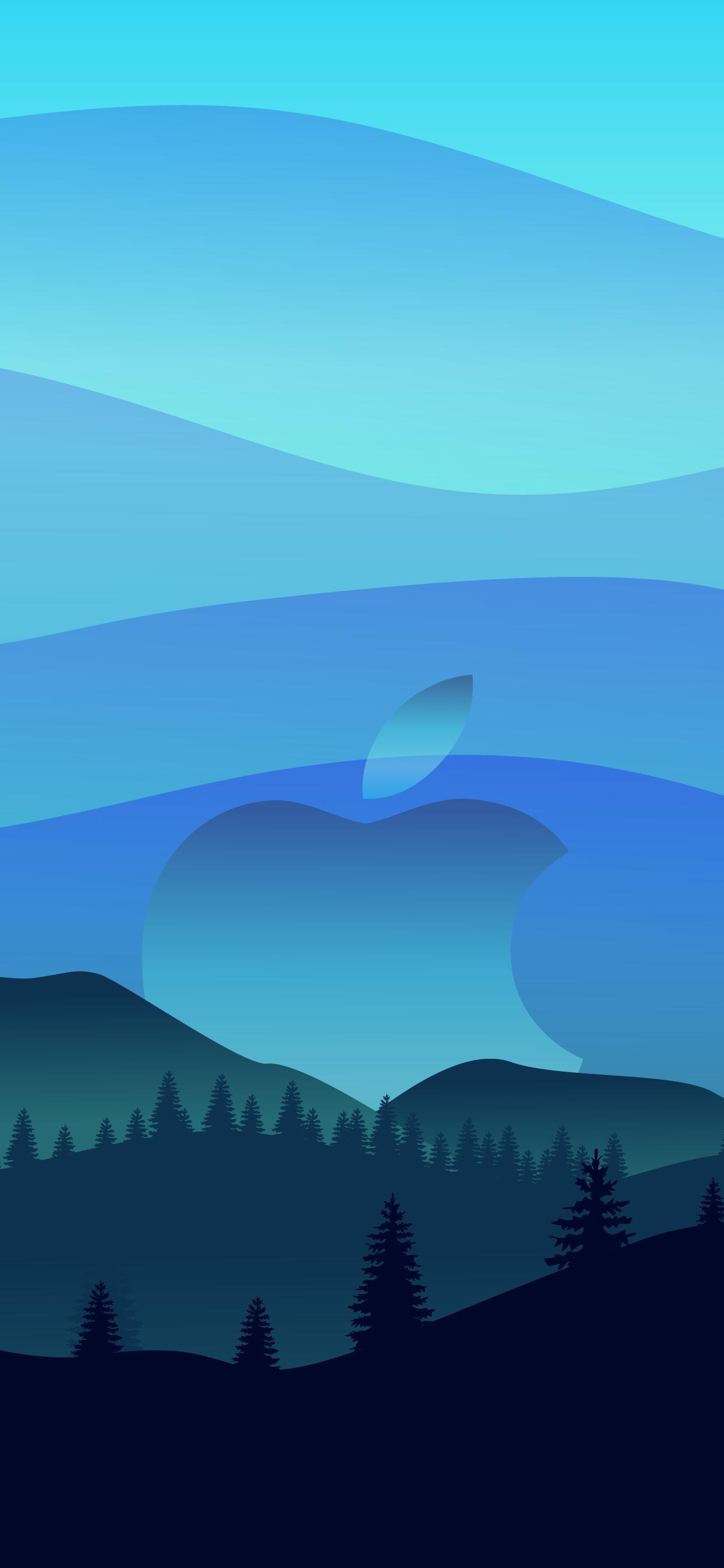 Wallpaper iphone hd blue