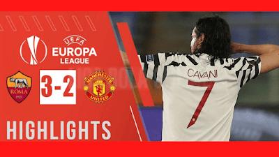 hasil skor sepakbola as roma 3-2 manchester united