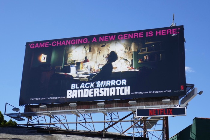 Black Mirror Bandersnatch 2019 Emmy billboard
