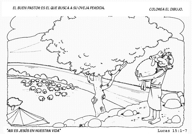 PEQUES Y PECAS...: FICHAS PARA COLOREAR DEL BUEN PASTOR.