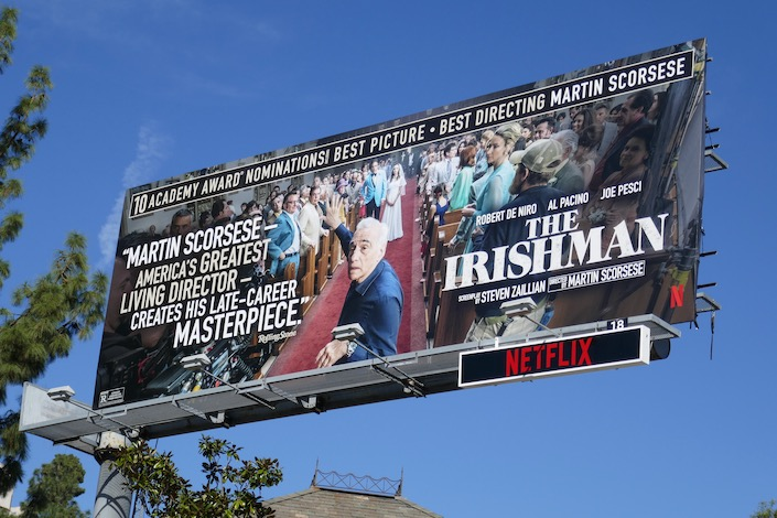 Irishman Martin Scorsese Oscar nominee billboard