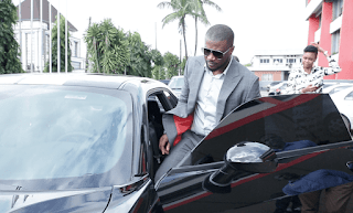 Peter Okoye drives N30m Dodge Challenger to renew his contract with Olympic Milk
