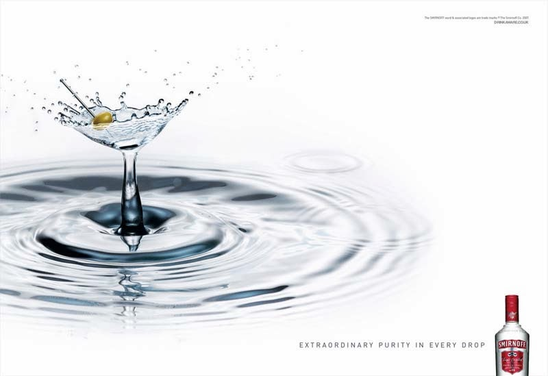 Martin Waugh, Liquid Sculpture, vodka Smirnoff
