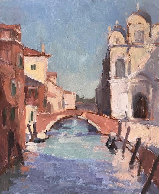 #396 'Ospedale, Venice' 9×12″