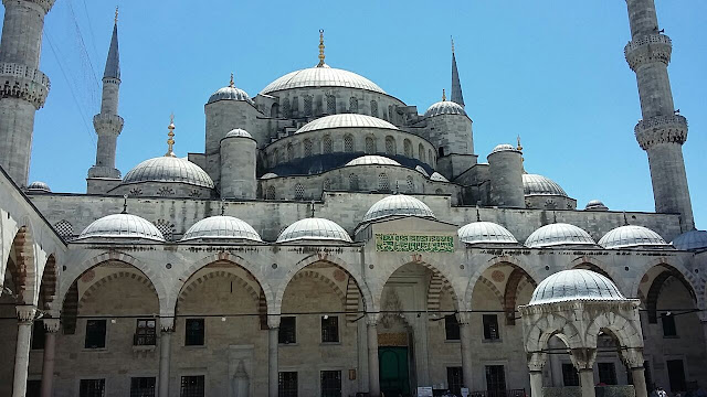 The Blue Mosque or Sultan Ahmed Mosque in Istanbul Turkey
