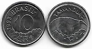 10 Cruzeiros Reais, 1993