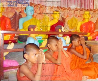 Tamil Father gives 4 Children to the Temple to become monks in dambulla