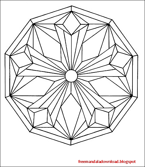 Einfache Mandalas Malvorlagen Pdf download - Free Mandala