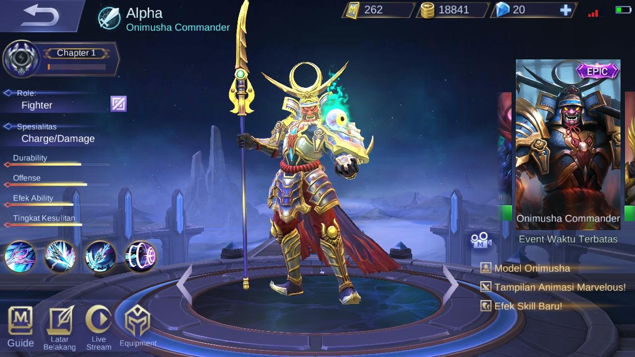 Hero Mobile Legend legenda dari Jepang Alpha