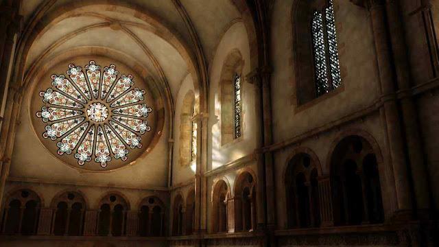 Interior de Cluny III, reconstituição virtual.