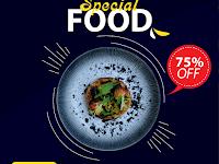 Free Template Food Menu and Restaurant Social Media Post - v3