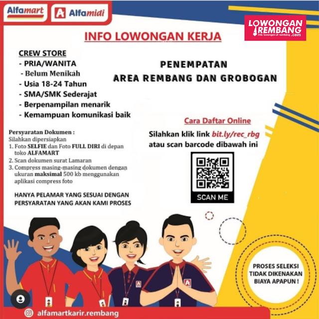 Lowongan Kerja Crew Store Alfamart Rembang