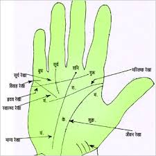 Hindi Names of Palm Lines Palmistry