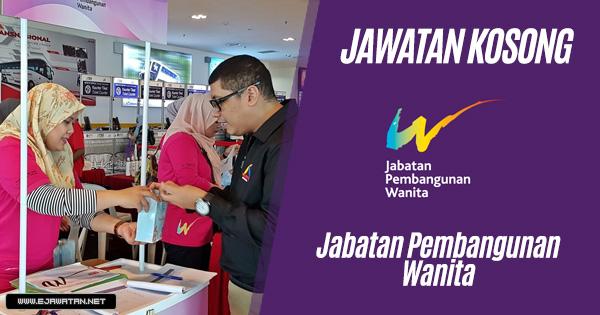 jawatan kosong kerajaan Jabatan Pembangunan Wanita (JPW) 2019