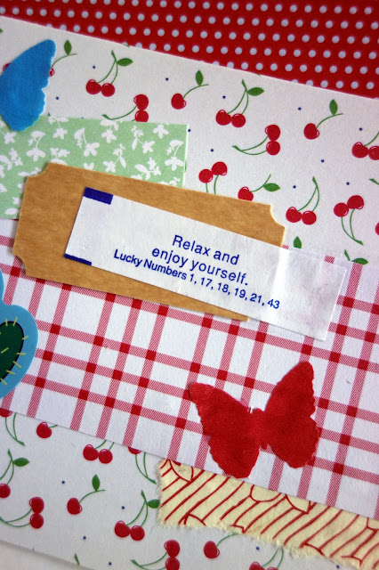 fortune cookies, fortunes, Chinese food, cookies, blah to TADA, crafting with fortune cookies, fortune cookie crafts, greeting card, snail mail, handmade card, scrapbooking, paper crafts, butterflies