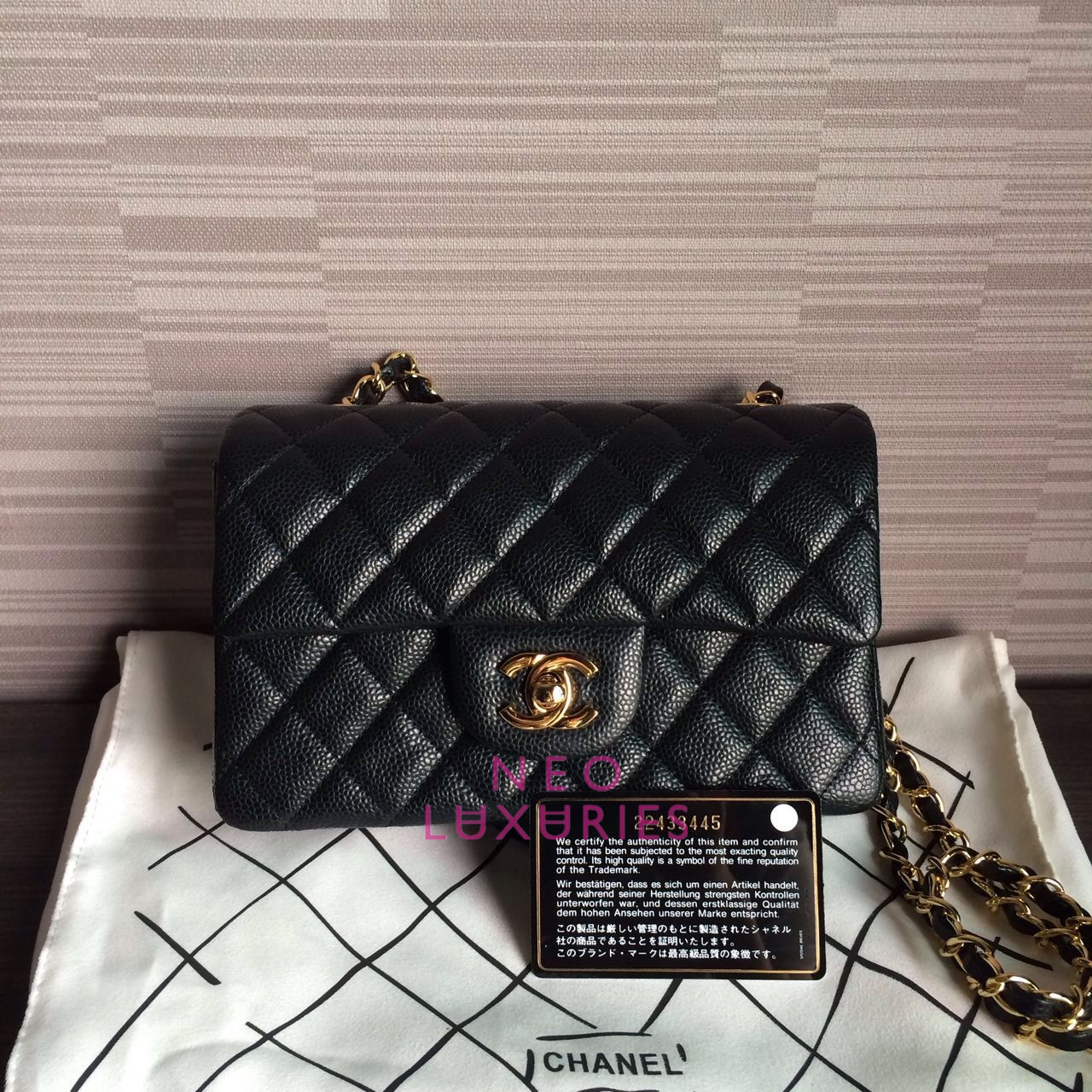 582b0edb1cd0 Neo LUXuries: SOLD: CHANEL Classic Flap New Mini Bag (20cm) - Black ...