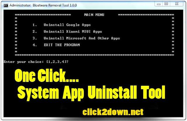 Bloatware System App (Uninstall) Removal Tool V1.0.0 Free Download