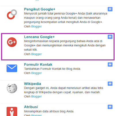 Lencana Google+ di Blogger