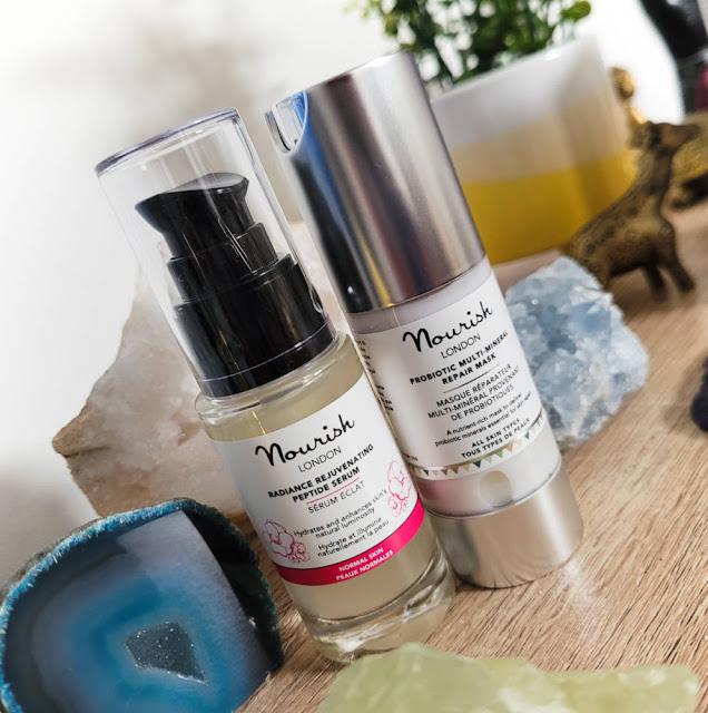 Nourish London Skincare Radiance Rejuvenating Peptide Serum and Probiotic Multi-Mineral Repair Mask