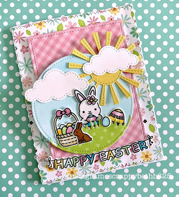 Sunny Studio Stamps: Chubby Bunny Customer Card by Scrappy BethB