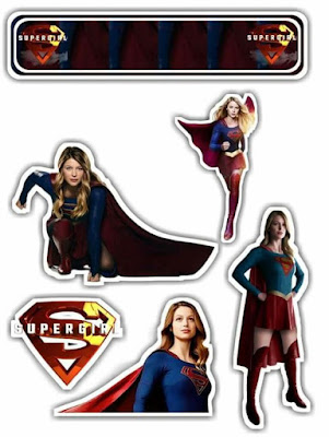 Supergirl Free Printable Cake Toppers.
