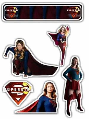 Supergirl: oppers para Tartas, Tortas, Pasteles, Bizcochos o Cakes para Imprimir Gratis.