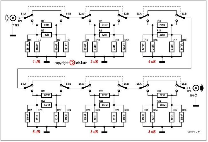 Antenna Handbook: DIY Six Stage Attenuator for High
