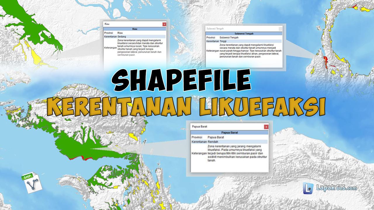 Shapefile Kerentanan Likuefeksi Indonesia