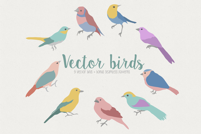 Vector birds - Julia Dreams