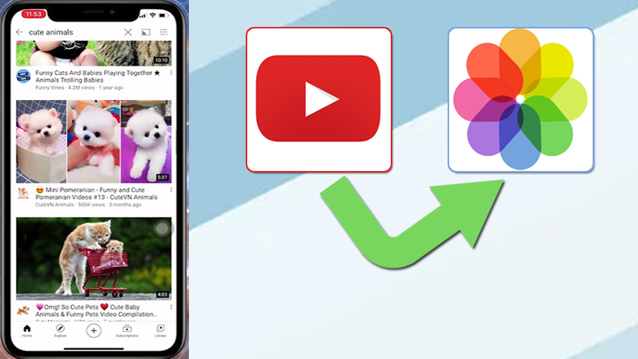 How to download videos from YouTube to Photos library On iphone