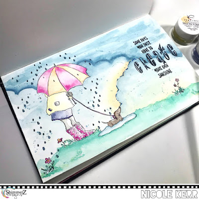 Create Your Own Sunshine Art Journal Entry | Shimmerz Paints