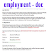 sample contracts of employment - doc