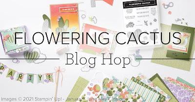 Flowering Cactus blog hop Stampin Up