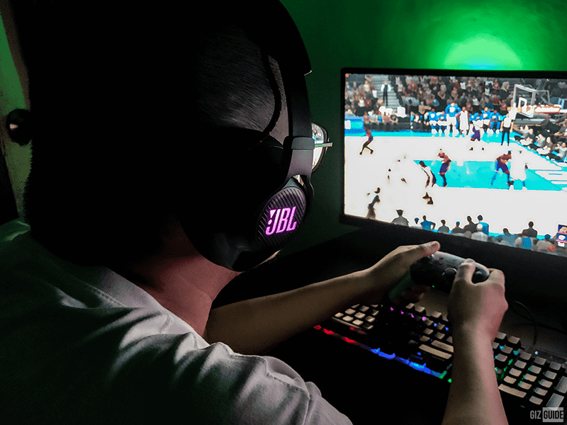 Using the JBL Quantum 600 while playing NBA 2K20