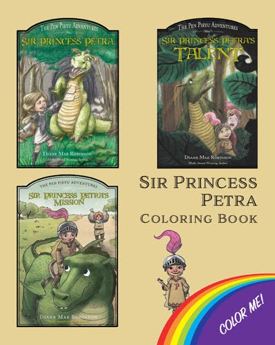 Sir Princess Petra Coloring Book