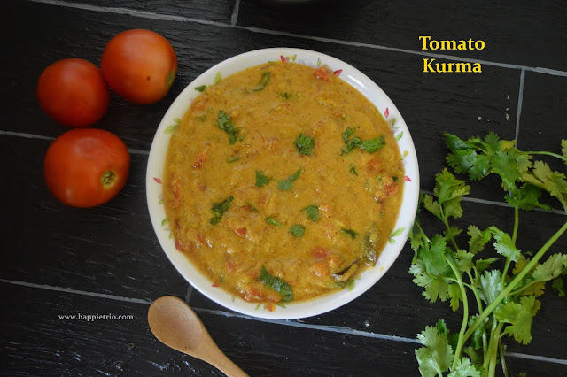 Tomato Kurma | Thakkali Kurma Recipe | How to prepare Tomato Kurma in Pressure Cooker