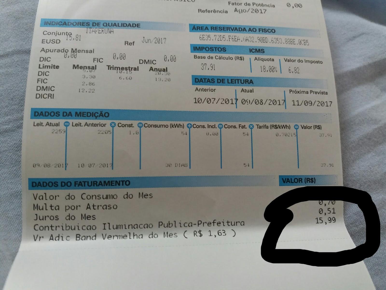 f47b7c3a258 TAXA DE ILUMINAÇÃO PÚBLICA COBRADA NA CONTA DE LUZ