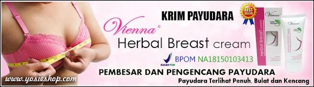 Vienna Herbal Treatment - Herbal Breast Cream - Pembesar dan Pengencang Payudara Aman Cepat Alami dan Original BPOM