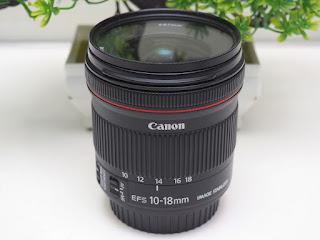 Lensa Wide Canon 10-18mm IS STM Bekas