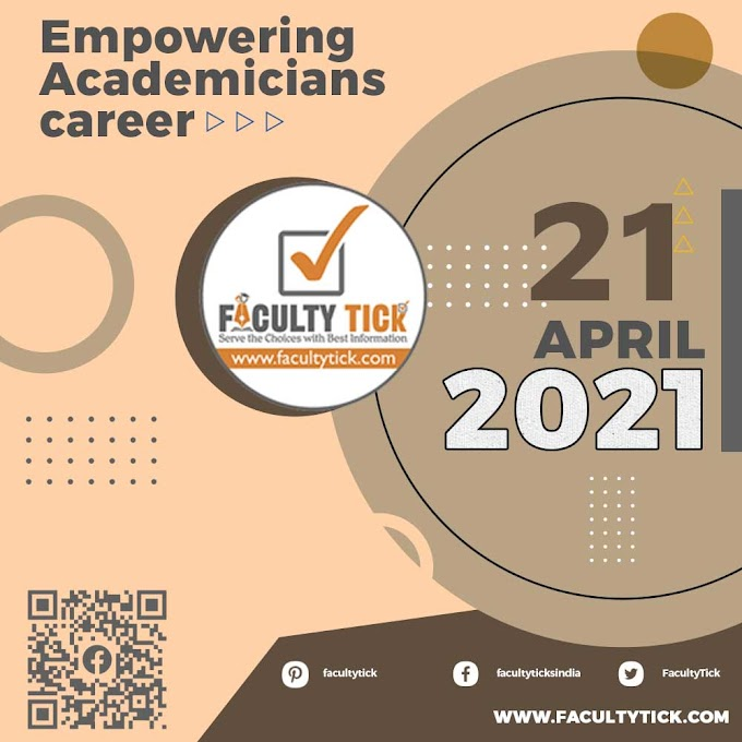 Teaching Faculty Job 21 April 2021 Announcement & Interview Notification By Faculty Tick
