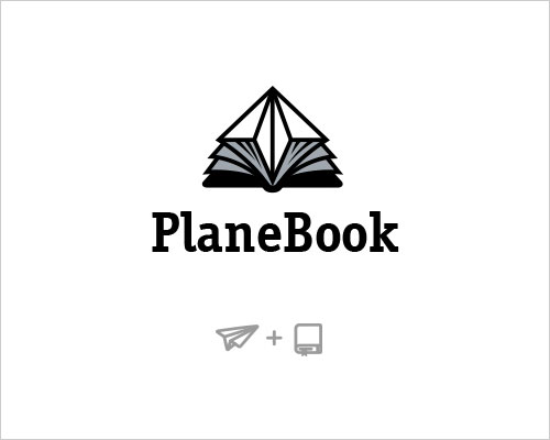 Logo Example - Plane Book