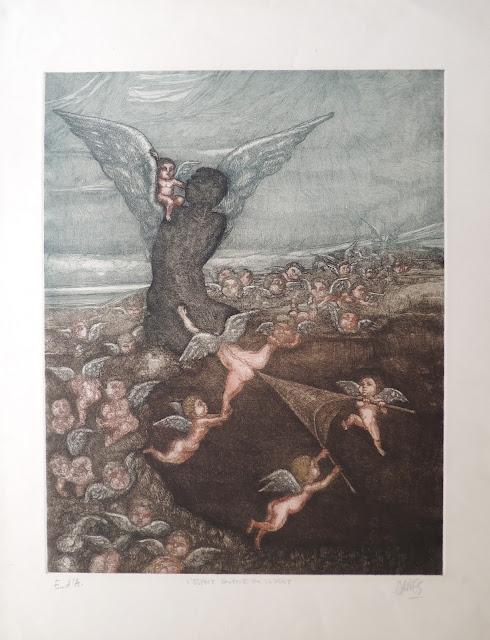 José Caes Solé litografía juicio final ángel